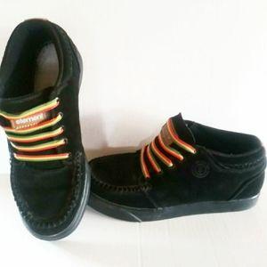Element black suede hi-top skater shoe men's 8.5